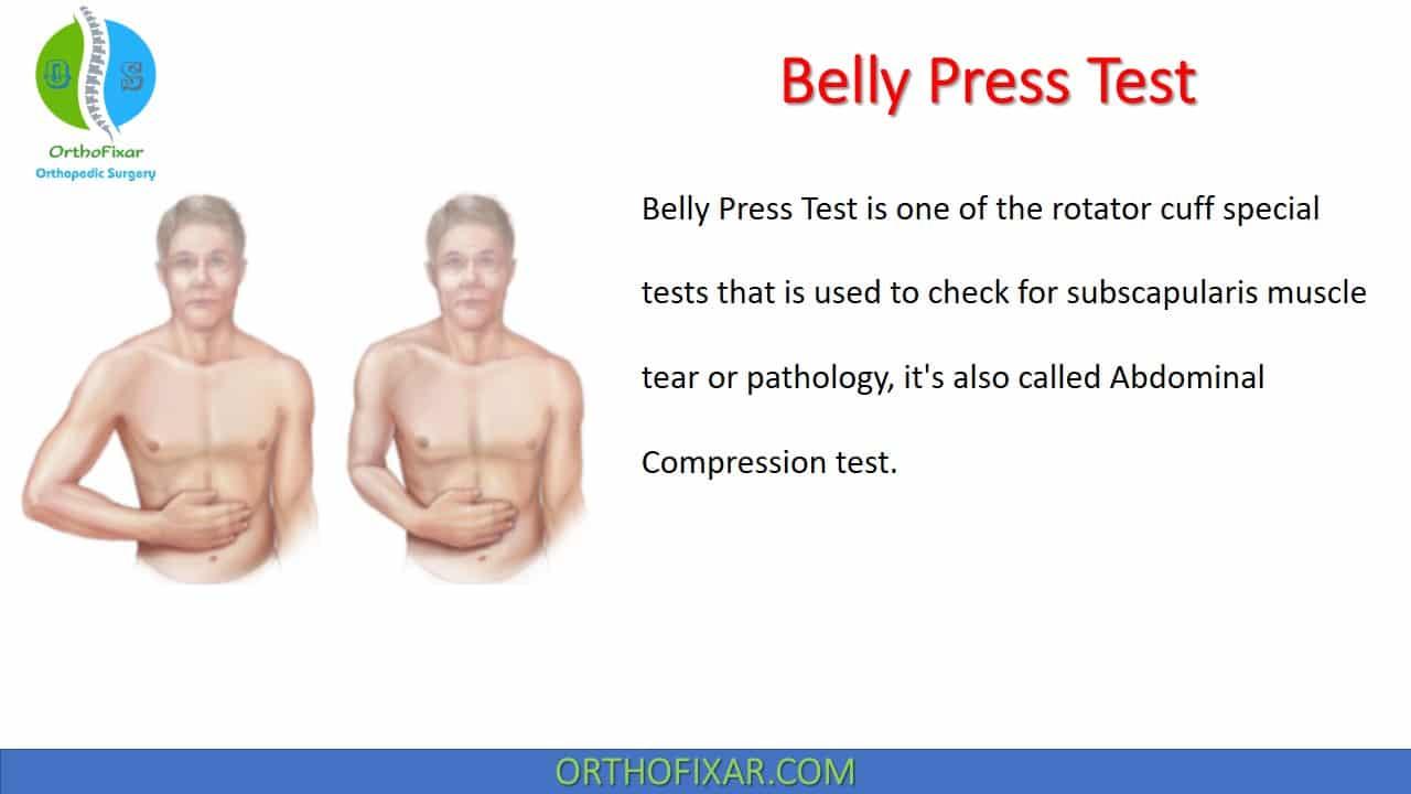 Belly Press Test