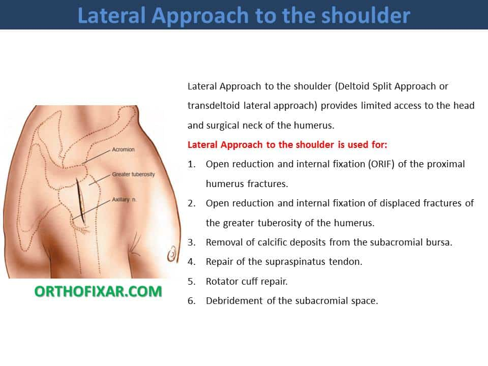 Lateral Approach to the shoulder