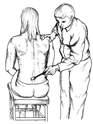 Spinous Process Tap Test