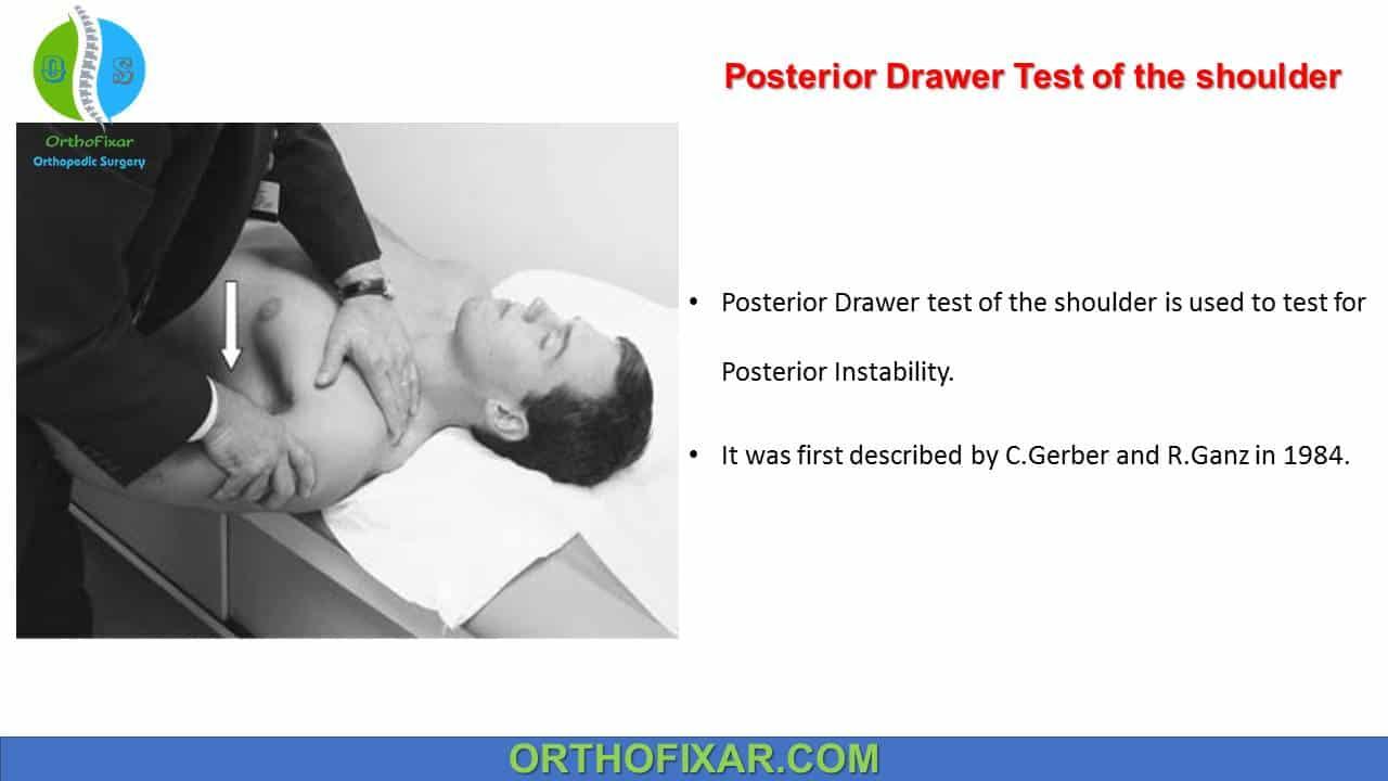 Posterior Drawer Test of the shoulder